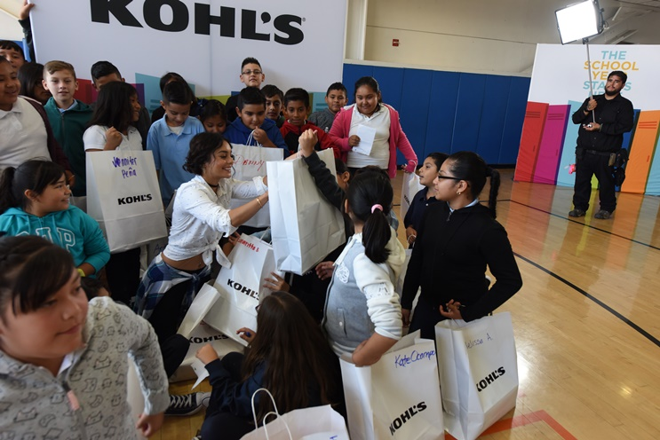 Each student at The Accelerated Schools in Los Angeles got a new pair of Nike shoes from Kohl's to start the year off in style.
