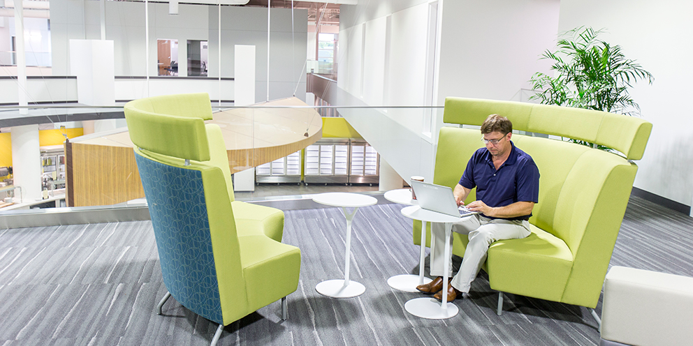 The newest addition to the Kohl's campus in Menomonee Falls, Wis., is the Kohl's Innovation Center. Designed for collaboration, it houses Kohl's teams including IT, logistics, store planning and construction.