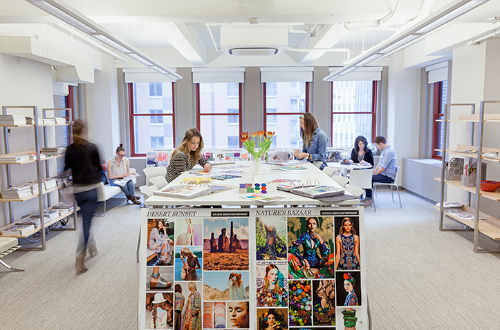 A talented staff of 150 employees are housed at Kohl's New York Design Office
