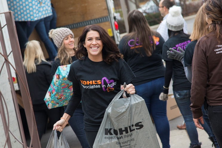 Kohl's associates deliver gifts for children in need