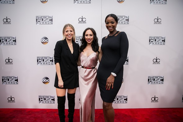 Lindsay Albanese, Cheryl Burke and Tai Beauchamp on the red carpet