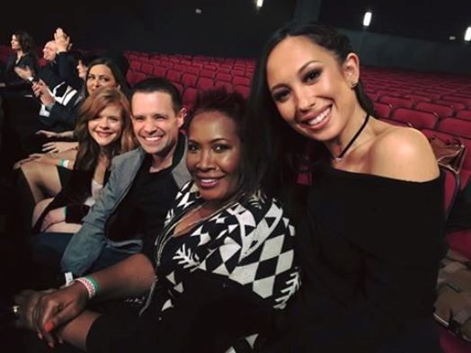 Cheryl Burke with some of Kohl's Yes2You Rewards members at the show rehearsal