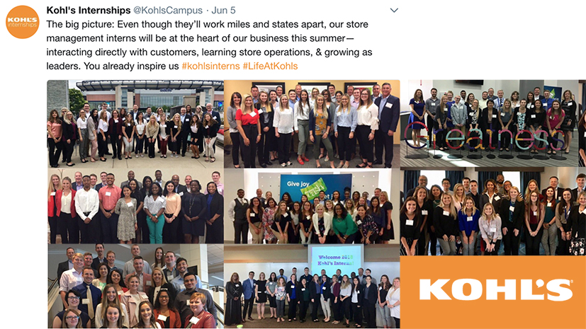 kohl s interns learn what lifeatkohls is all about