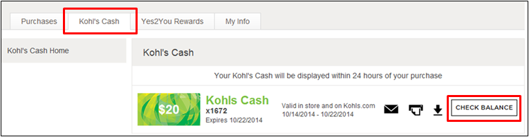 Kohl's Cash Balance