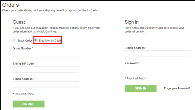 how to print email your kohl s cash