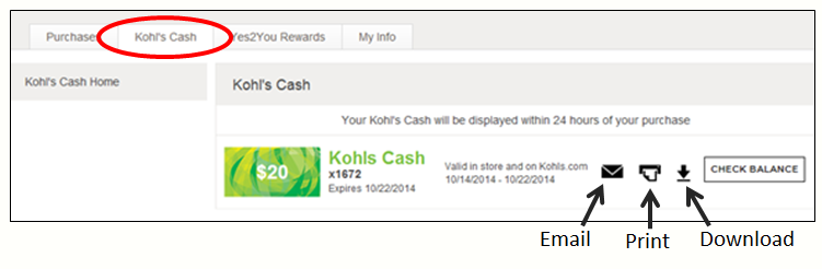 c1460981649b4c How to Print   Email your Kohl s Cash