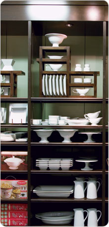 Hutch with Dinnerware